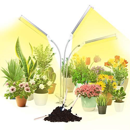 LED Pflanzenlampe, PTN Wachstumslampe für Zimmerpflanzen, 150W 315 LEDs mit vollem Spektrum, einstellbarer Schwanenhals und Schreibtischclip, 10 Dimmstufen und 3 Schaltmodi für Sämlinge