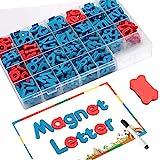 Fuqun letras magnéticas (212 piezas)para ninos, con tablero magnético de doble cara, alfabeto de espuma para ortografía y aprendizaje preescolar para niños, alfabeto de letras magneticas de nevera