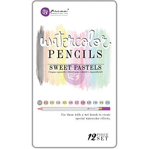 Prima Marketing WPSET-84665 Mixed Media Watercolor Pencils - Sweet Pastels44; Pack of 12