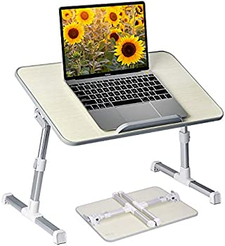 Neetto Height-Adjustable Laptop Bed Table with Foldable Legs
