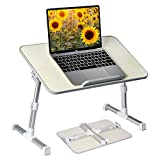 Neetto Height Adjustable Laptop Bed Table, Portable Lap Desk...