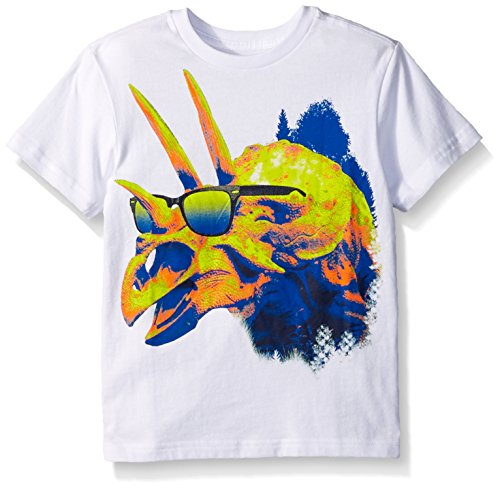 The Children's Place Big Boys' Novelty Graphic T-Shirt, White, M (7/8)