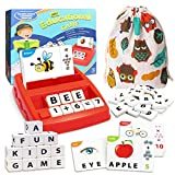 Matching Letter Game Learning Toys with storage bags, Board Games, Educational Toys for Boys Girls, Teaches Word Recognition, Spelling, math and Increases Memory, Easter Gifts for Kids, Ages 3+