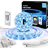 ZYSHEN LED Strip Lights, 32.8ft 5050LEDs RGBW Pure White LED Lights with 24 Keys IR Remote Control and UL Power Supply, LED Lights Strip for Bedroom Kitchen Home Party and Indoor Decoration