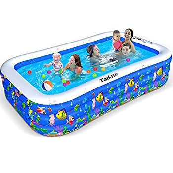 Taiker Inflatable Swimming Pools Kiddie Pools Family Lounge Pools 130   x 72   x 20   Large Family Swimming Pool for Kids Adults Babies Toddlers Outdoor Garden Backyard