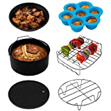 COSORI (C137-6AC) Accessories Set of 6 Fit all 3.7, 4.2QT Air Fryer, FDA Compliant, 3.7QT, Nonstick Coating