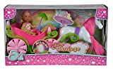 Simba 105735754 - Evi Love Fairy Carriage / märchenhafte Kutsche / mit Glow in the Dark Laternen /...