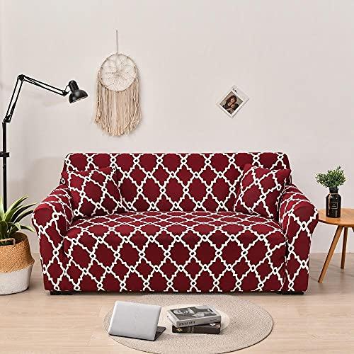Fundas de cojín separadas Fundas de sofá elásticas con Estampado Floral de 2 y 3 plazas para Sala de Estar, Fundas de sofá en Forma de L, Fundas para sillas de sillón, 2 Piezas