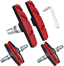 Bike Brake Pads Set, Alritz 3 Pairs Road Mountain Bicycle V-Brake Blocks Shoes with Hex Nut and Shims, No Noise No Skid, 70mm, for Front and Back Wheel