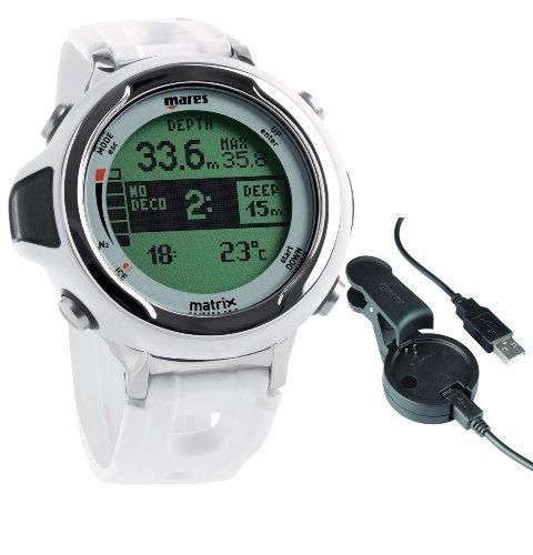 Mares MATRIX - weiß - Tauchcomputer Armbandmodell - 414167 -