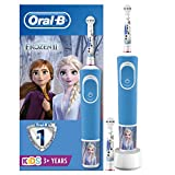 Oral-B per bambini Spazzolino elettrico ricaricabile di Braun, 1 manico Disney Frozen (1 o 2), dai 3 anni in su