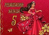 OBLEA de Princesa DE Avalor Personalizada con Nombre y Edad para Pastel o Tarta, Especial para cumpleaños, Medida Rectangular de 28x20cm