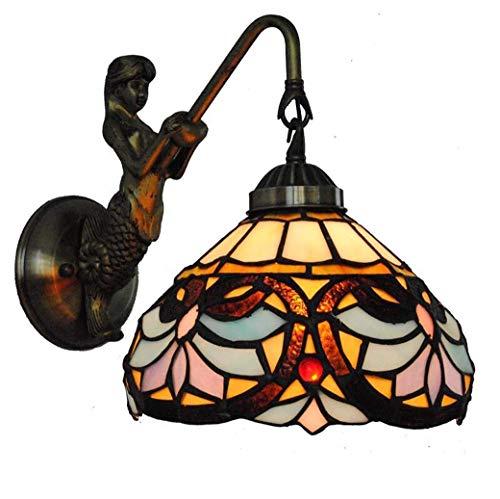 Lage prijs tafellamp bedlampje kristallen kroonluchter hanglamp plafondlamp wandlamp wandlampen wandlampen, 2019 nieuwe 8 inch glasschilderij wandlamp met nixensokkel, trapgang Ba