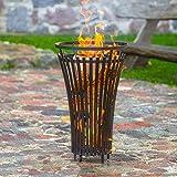 Gartentraum Hoher Feuerkorb aus Stahl - Feuerstelle für draußen - Kyra Feuerkorb/ohne Bodenschale