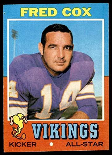1971 Topps # 96 Fred Cox Minnesota Vikings (Football Card) EX/MT Vikings Pittsburgh