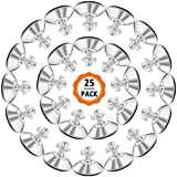 Dadabig 25 Pack Patas de Muebles Ajustables M8x40mm Niveladores de Muebles con Tuercas Pies de...