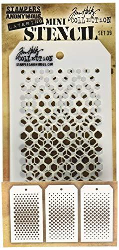 Mini Art Gone Wild Tim Holtz Set 28/Schablone transparent