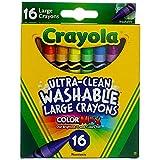 Crayola Jumbo Lápices de colores lavables 16 ea (paquete de 12)