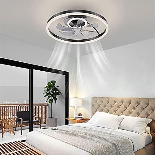 Ventilador De Techo LED Con 2 Lámparas,Luz De Ventilador Regulable Para Comedor,Control Remoto Y APP,Silenciosa De 3 Velocidades, 50Cm Fan Para Sala De Estar Cuarto