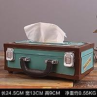 ティッシュボックス収納ボックスラジオシェイプティッシュボックス食料品店カフェホルダーショップデコレーション-1