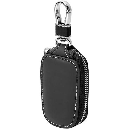 Portachiavi per Telecomando Auto, Portachiavi PU Pelle Raccoglitore chiave cassa chiave cerniera portafoglio (Nero)