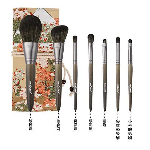 Set De Pinceaux De Maquillage Foundation Foundation Fard À Paupières Brush Tool Wool, 7 Brushes G