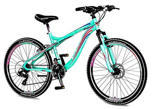 breluxx® 26 Zoll Damen-Mountainbike Hardtail Venera Sport Marissa 21 Gang Shimano, Scheibenbremse Frontfederung MTB, inkl. Schutzbleche + Reflektoren, Limited Edition