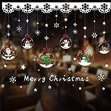 PVC Xmas Fensterdekoration, Schneemann Schneeflocke Aufkleber Dekoration, Weihnachten...