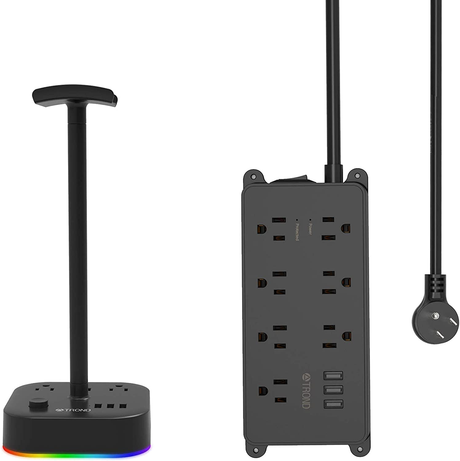 TROND Power Strip Surge Ranking TOP14 New sales Protector Stand wi Headset Bundle Gaming