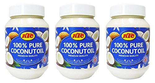 KTC - 100 % reines Kokosöl - Vielseitig für Haut, Haar & Küche - 3 x 500 ml