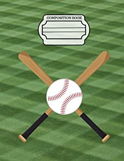 Baseball - Sports Fans Journal, Composition Notebook, Wide Ruled Paper: 101 sheets / 202 pages (7.44
