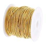 non-brand 10 Yards Schlangenkette Kabel Kette Metallkette Gliederkette Kellnerkette zum Basteln für Halskette Fußkettchen Herstellen - Gold