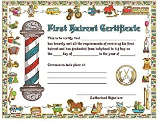 72 count new style Children / Kids First Haircut Certificates