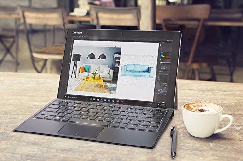 Lenovo Miix 720, 12-Inch Windows Laptop, 2 in 1 Laptop, (Intel Core i7, 2.7 GHz, 16 GB DDR4, 512 GB M.2 PCIe SSD, Windows 10 Pro), Black, 80VV00CMUS