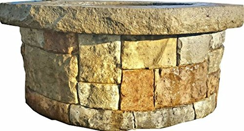 Concrete Fire Pit & Seat Wall form liner(NOT A COMPLETE FIREPIT) Form Liner - Majestic Stack Stone 5' x 14' - Make your own fire pit - Walttools
