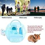 DAUERHAFT Portable Multifonctionnel en Plastique de Cage de Hamster Portable pour Hamster(Blue)