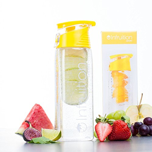 Infruition Sport Fruit Infusion Water Bottle YELLOW