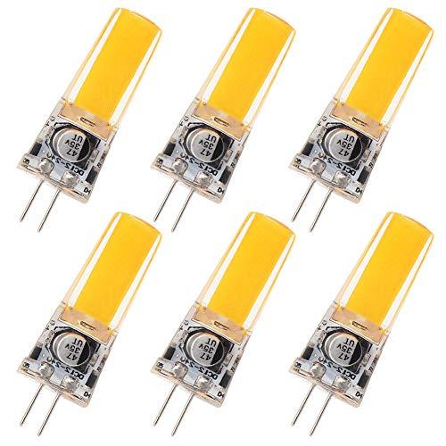 GRV G4 COB 2508 3.5W AC12V DC12~24 V Schrank LED Silikon Licht Kristall 30 W Leuchtmittel Halogen Track Ersatz, Warmweiß, 3.5 watts, 6 Stücke