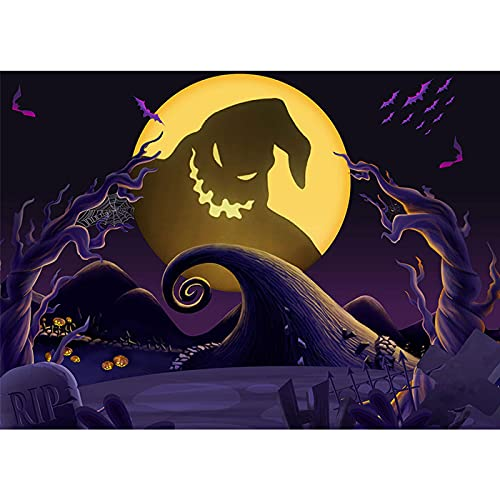 Maijoeyy 7x5ft Nightmare Before Christmas Backdrop Child Kid Halloween Backdrops for Photography Nightmare Before Christmas Props Halloween Party Backdrop Decoration