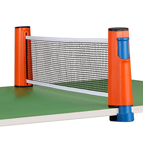 New Hipiwe Retractable Table Tennis Net Replacement, Ping Pong Net and Post with PVC Storage Bag, 6 ...