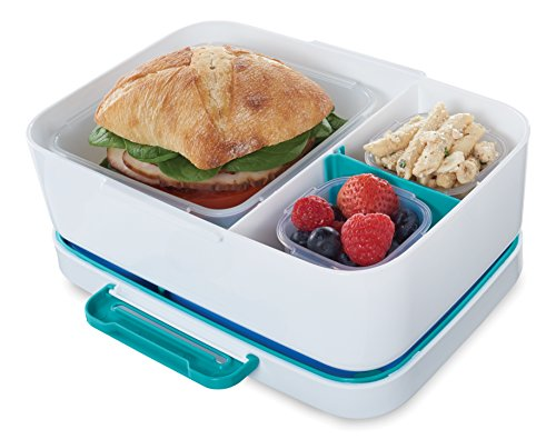 Rubbermaid LunchBlox Leak-Proof Entree Lunch Container Kit with Case, Small, Blue 2000666