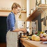 HB life 2Pack Schürze Kochschürze Sterne Schürze 82x71.5cm Baumwolle Leinen Verstellbare Küchenschürze Weiche Kochschürze mit Tasche für Damen und Männer (Gitter/Vertikalstreifen) - 6