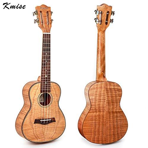 Kmise Tiger Flame Classical Guitar Head Ukulele Okoume Ukelele Hawaii Guitar (23 inch)