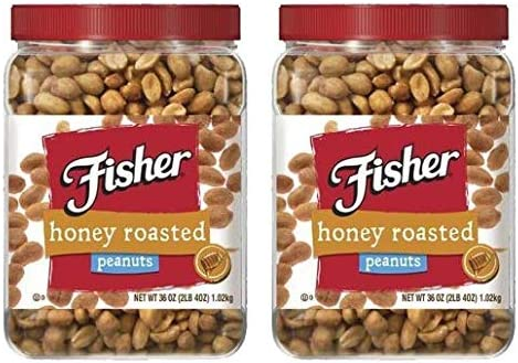 Fisher Honey Roasted Peanuts 36 oz 2 LB 4 oz Pack of 2 product image