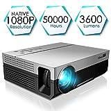 1080P Projector, CiBest Full HD True Native 1920 X 1080P Video Projector +80% Lumens Brightness...