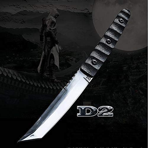 JGN Trading Katana !! D2 Steel Tactical Dagger Knife Tanto Fixed Blade 61HRC G10 Handle Outdoor Camping Survival EDC Knives Wilderness Combat Hunting Knifes