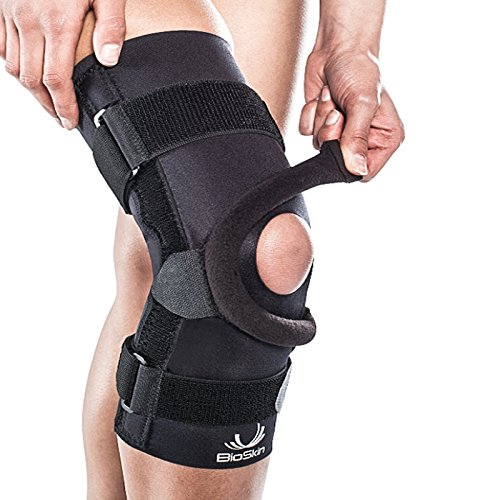 BIOSKIN Wraparound Compression Supportive Knee Brace for Patellofemoral Pain and Patella Tracking Disorders (L)