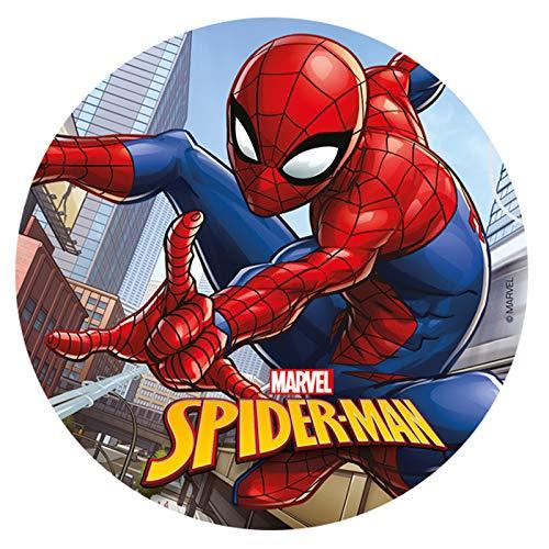 Spiderman Round 20cm 8 Zoll essbare Wafer Cake Topper. Lizenzprodukt. Dekora.…