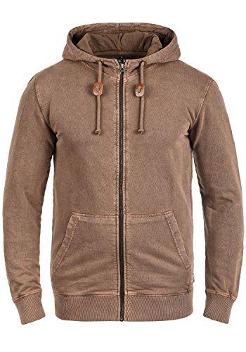 Blend Itaschi Herren Sweatjacke Kapuzenjacke Hoodie Mit Kapuze Und Reißverschluss Aus 100% Baumwolle, Größe:XL, Farbe:Coffee Brown (75103)