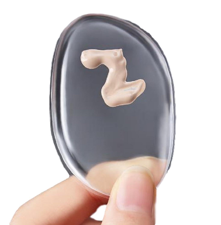 Samoyed 話題のシリコンパフ リキッド クリームファンデーション用パフ メイクグッズ